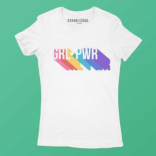 Playera Blusa Girl Power Colores para Mujer