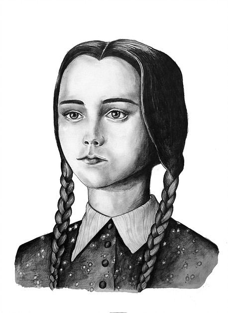Wednesday Addams Drawing