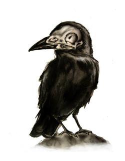 Skeletal Crow