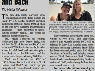 Yasny partners with BIC Media Solutions on inspirational docu-series ROCK BOTTOM AND BACK