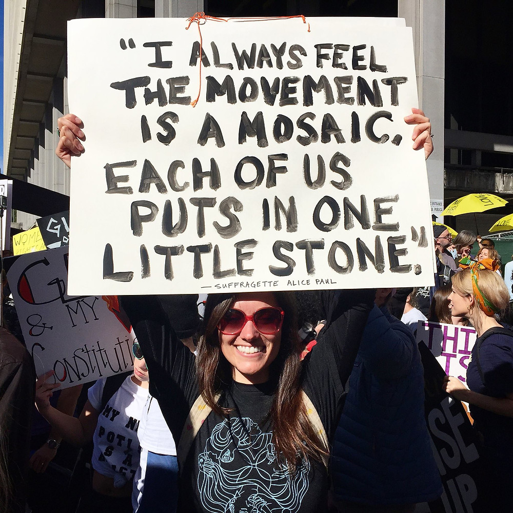 Little Stones at LA Women's March January 2017