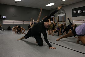 Holly Robinson guiding contemporary class during TRIBE: Akron