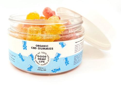 CBD Infused Gummies for Vegan- Isolate, 250 mg