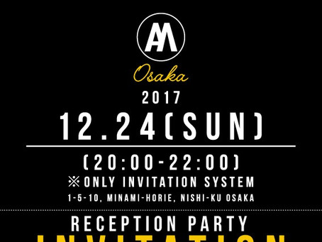 12/24(SUN) AH MURDERZ Reception Party INVITATION