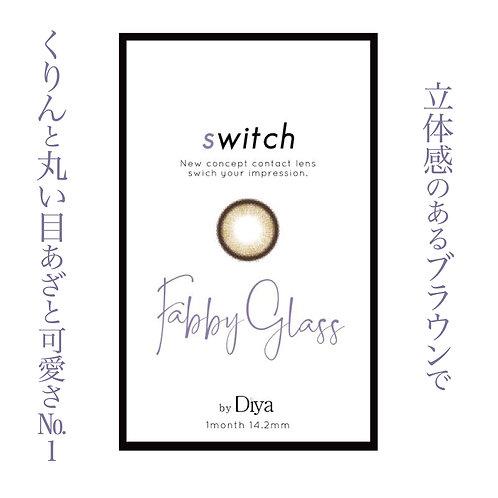 スイッチ by ダイヤ【ファビーグラス】カラコン/度なし/1ヶ月/1箱2枚入り