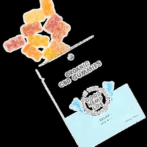 【10個セット】CBD Infused Gummies for Vegan - Isolate, 100 mg