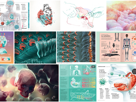 Mint and Coral Color Trends in Medical Illustration