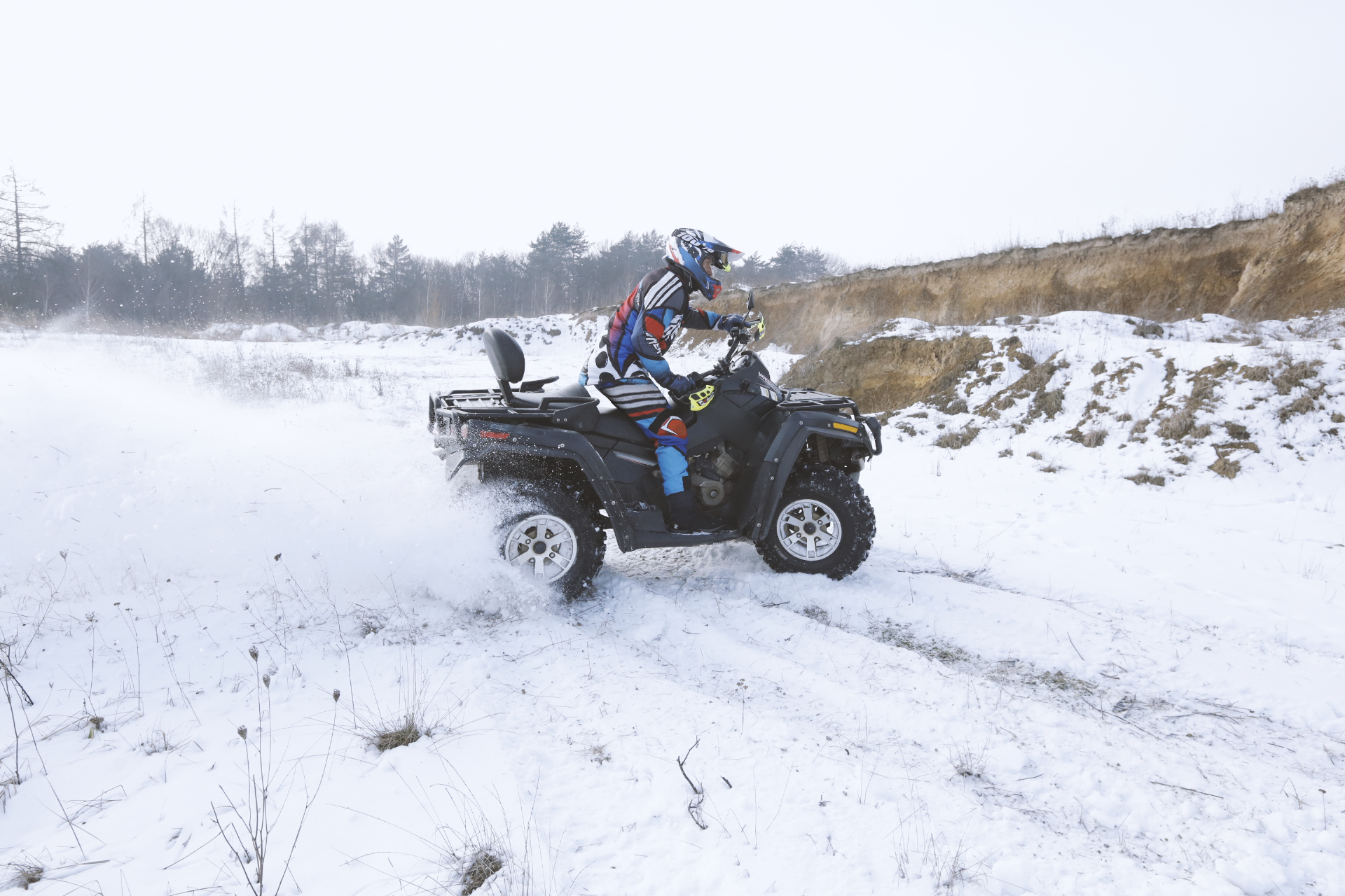 ATV in Snow