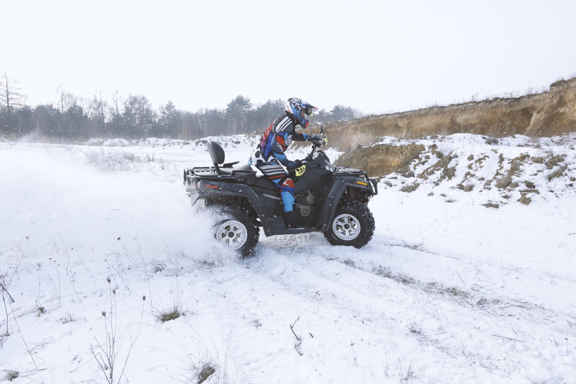 ATV in Snow