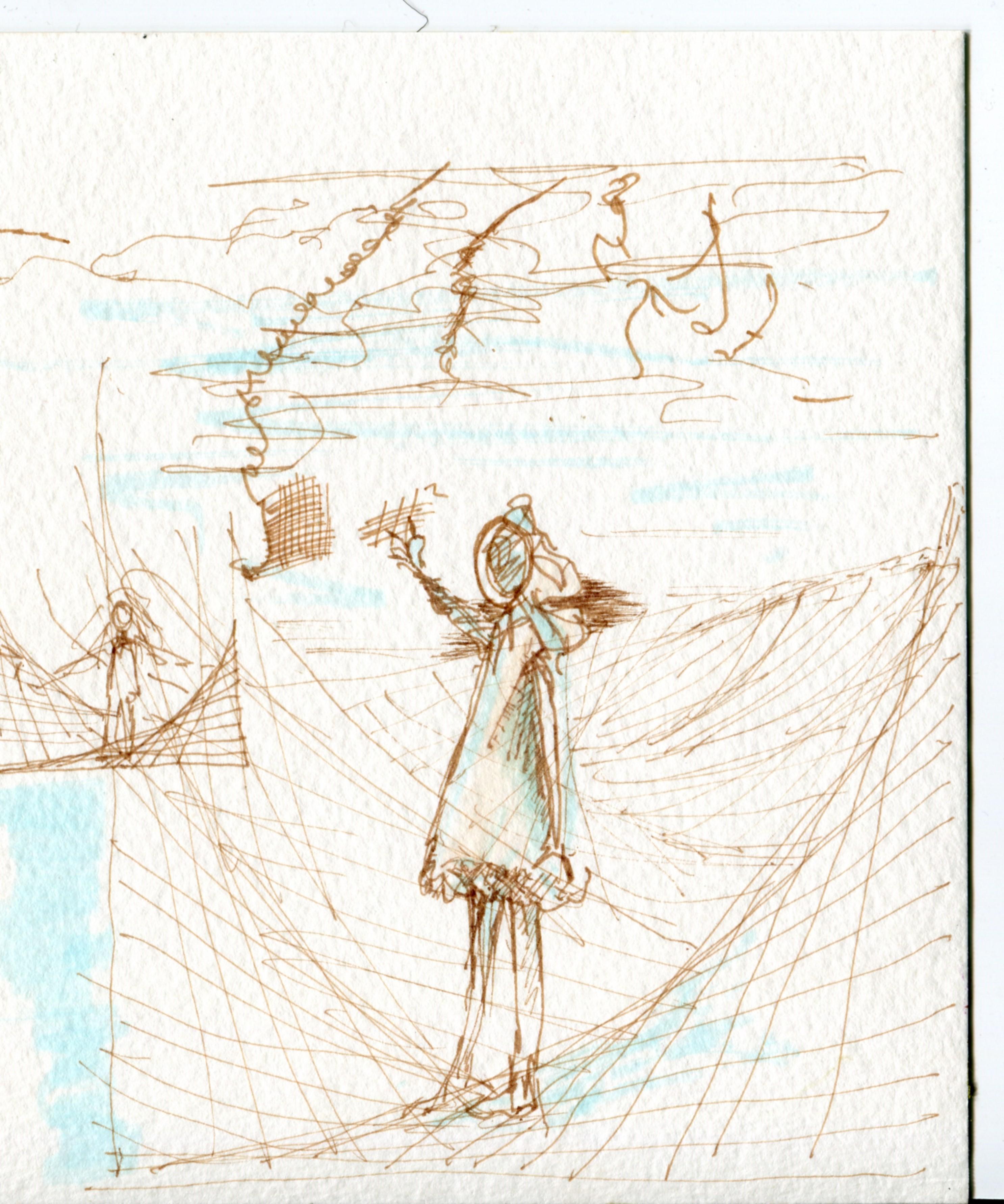 Ninoko character sketching