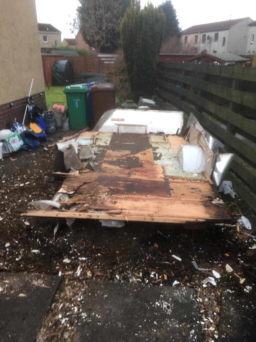 Caravan Dismantled Dunfermline