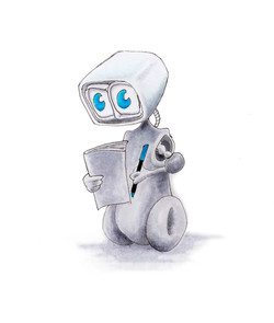 Littlest Robot - 443 Turquoise Blue