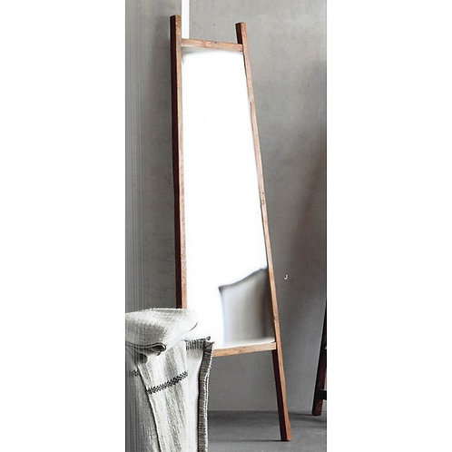 A-Frame Teak Floor Mirror