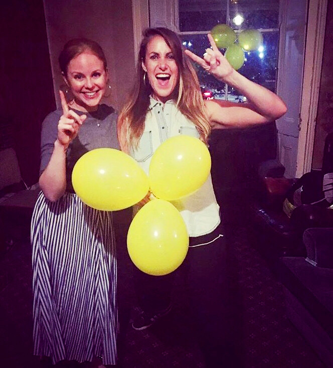 Rosy Edwards and Amy Baker celebrate The Riff Raff's 1st birthday