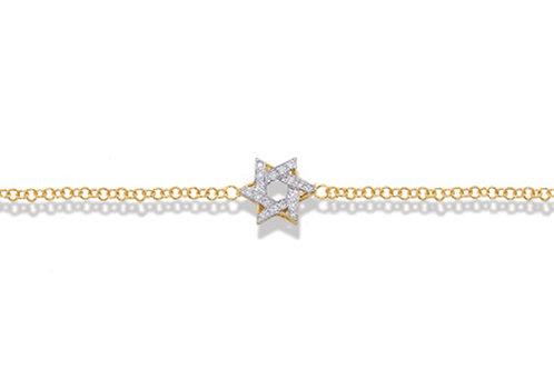 "14K Yellow Gold STAR OF DAVID/""MAGEN DAVID"" Bracelet"