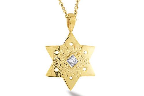 "14K Yellow Gold STAR OF DAVID/""MAGEN DAVID"" Necklace"