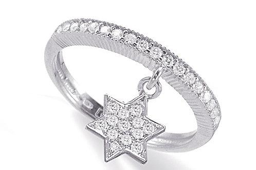"""14K White Gold """"STAR OF DAVID"""" (MAGEN DAVID) Ring"""
