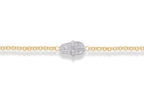 "14K Yellow Gold HAND OF GOD/""HAMSA"" Bracelet"
