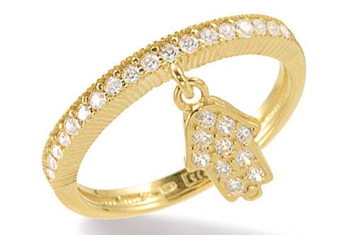 "14K Yellow Gold HAND OF GOD/""HAMSA""  Ring"