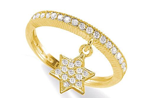 "14K Yellow Gold ""STAR OF DAVID"" (MAGEN DAVID) Ring"