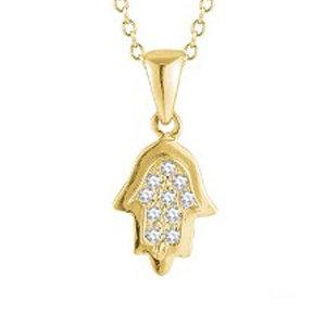 "14K Yellow Gold ""HAMSA"" (Hand of God) Necklace"