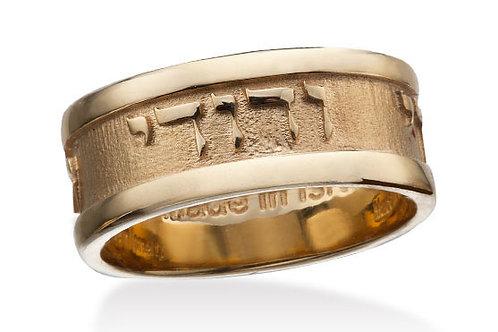 "14K Yellow Gold ""SONG OF SOLOMON"" MY BELOVED (6:3) Diamond Ring"