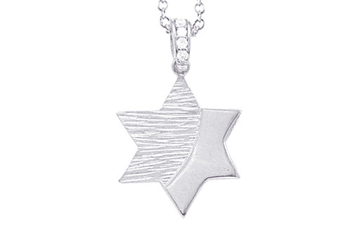 "14K White Gold STAR OF DAVID/""MAGEN DAVID"" Necklace"