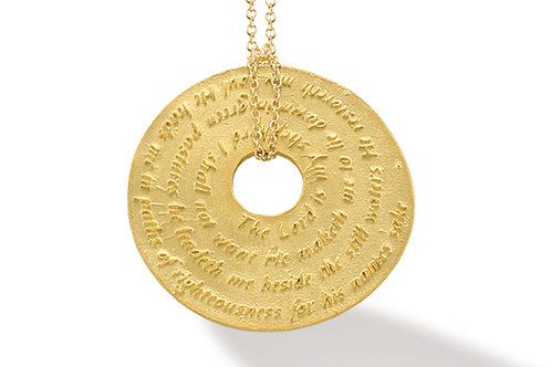 14K Yellow Gold PSALM OF DAVID (PSALM 23) Necklace