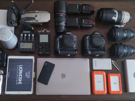 ציוד הצילום שלי | מצלמות וכל האביזרים