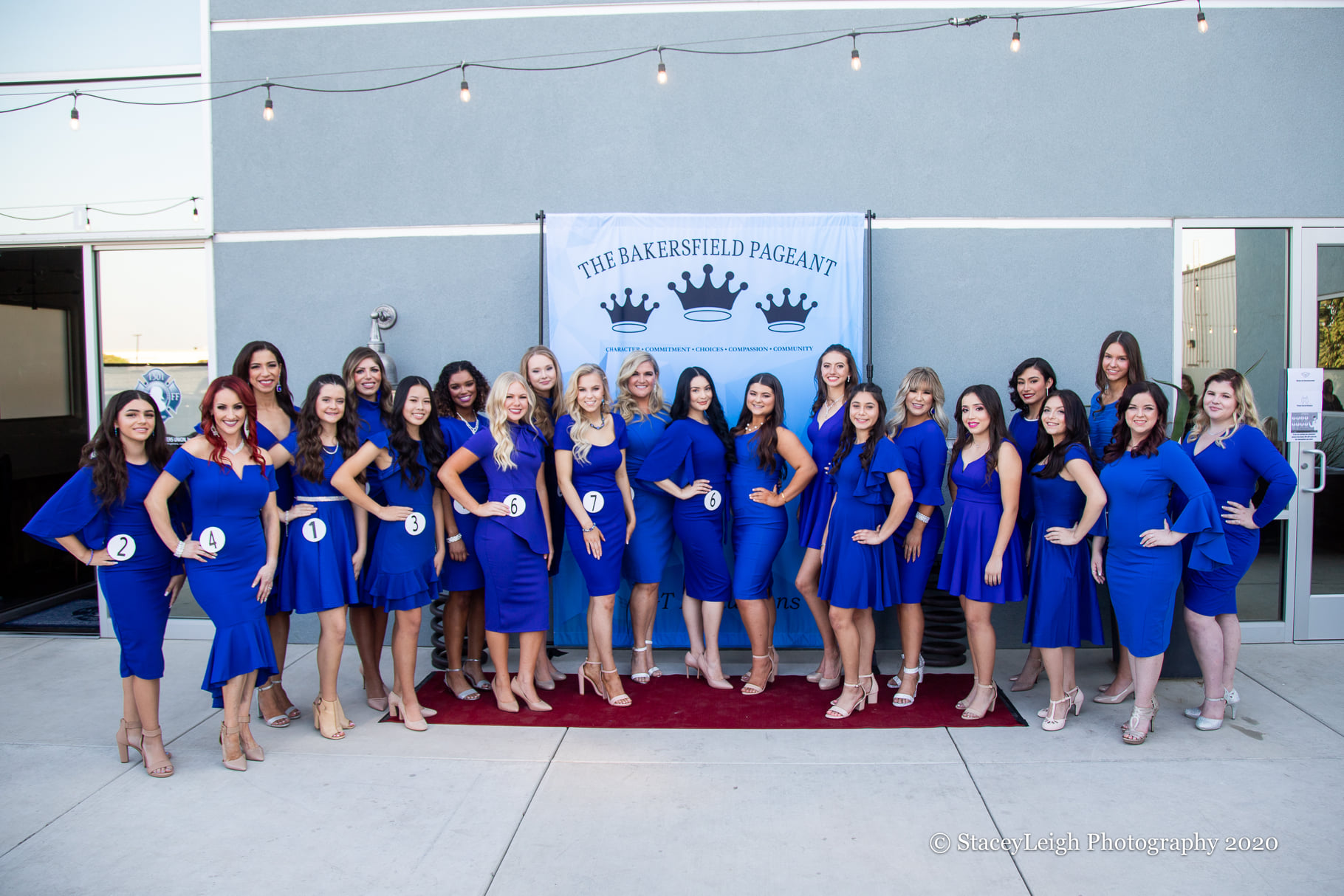 pageant blue dress