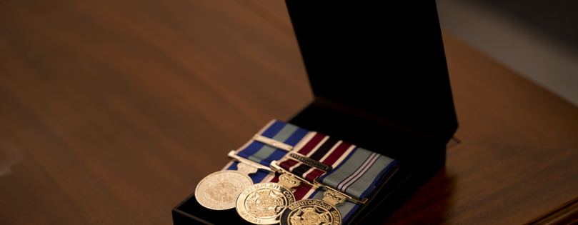 Military Medals in case