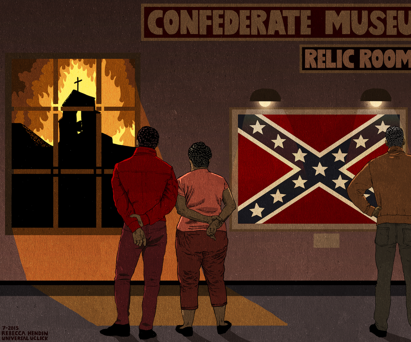 Confederate-Flag-Relic-Room-Cartoon-Illu