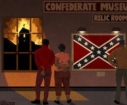 Confederate-Flag-Relic-Room-Cartoon-Illu