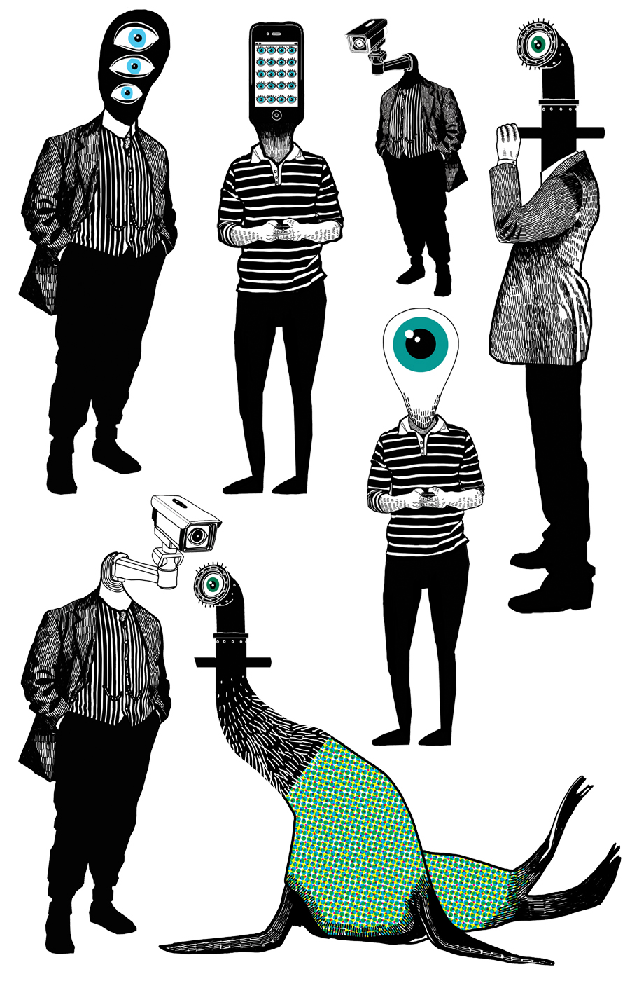 Eye Spy (drawings) by Rebecca Hendin
