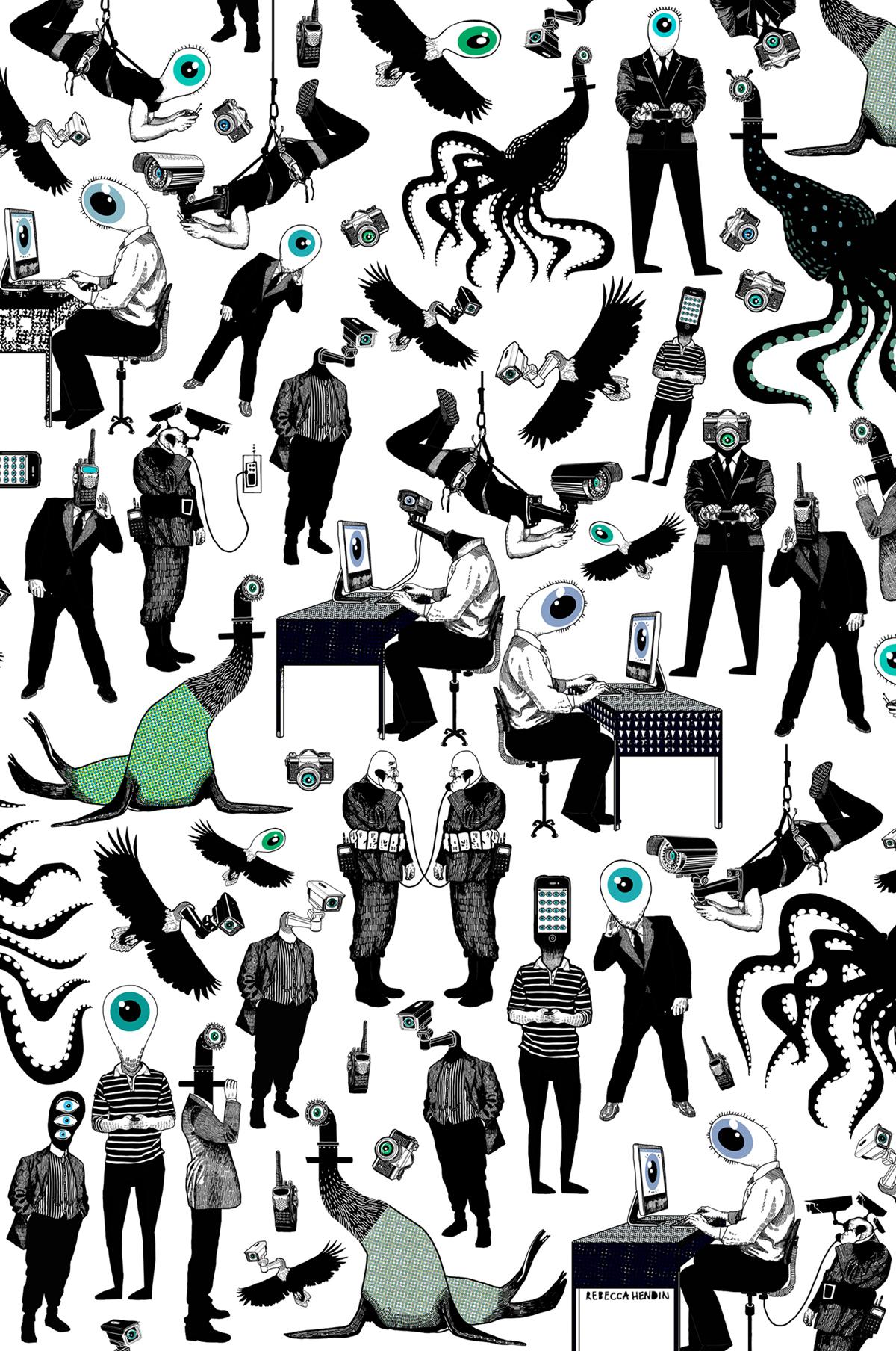 Eye Spy Illustration STRIKE Magazine