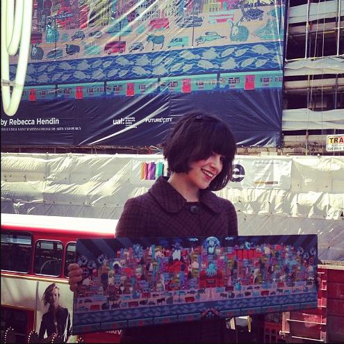 London Foyles Mural - Rebecca Hendin