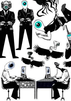 Eye Spy (Drawings) by Rebecca Hendin