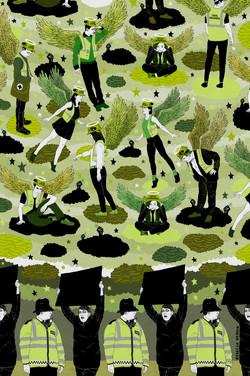 Strike illustration - rebecca-hendin-green-and-black-cross-drawing-RGB-9-signed-