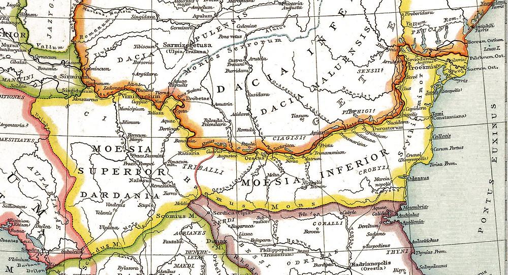 Moesia Inferior Map