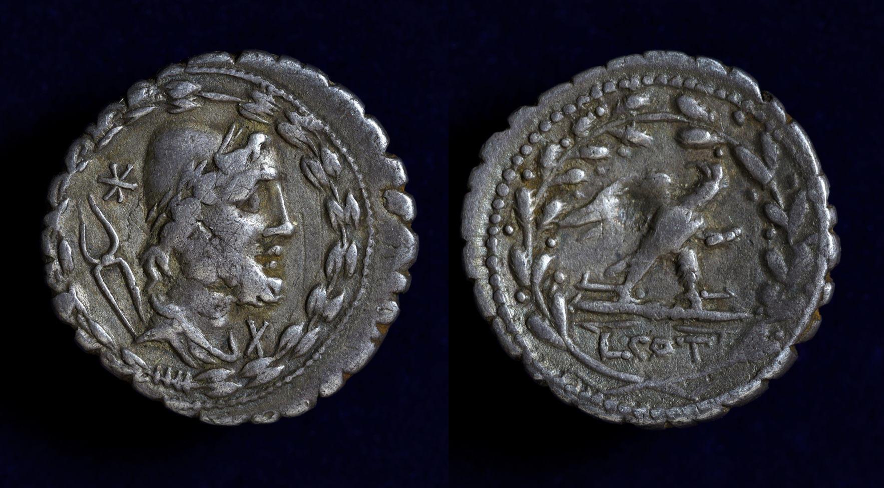Lucius Aurelius Cotta, 105 BC, Crawford 314/1c
