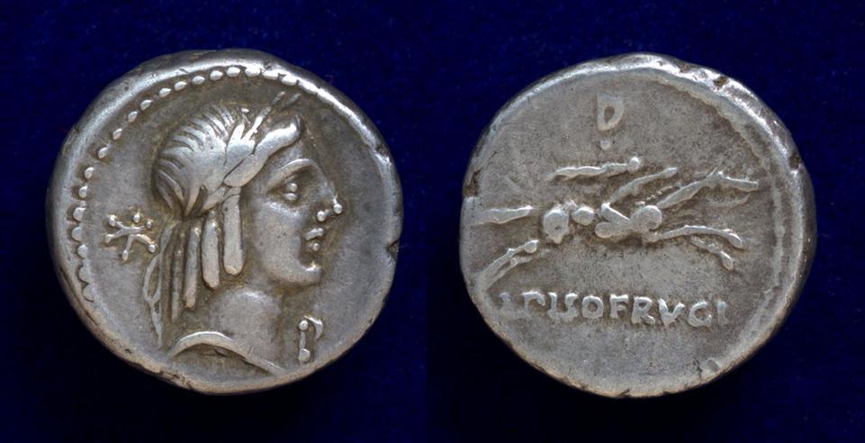 L. Calpurnius Piso Frugi, 90 BC, Cr. 340/1;