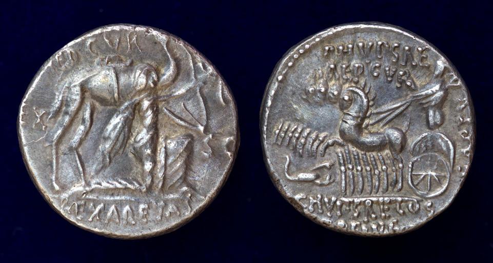 M. Aemilius Scaurus and Pub, Plautius Hypsaeus, 58 BC, C. 422/1b