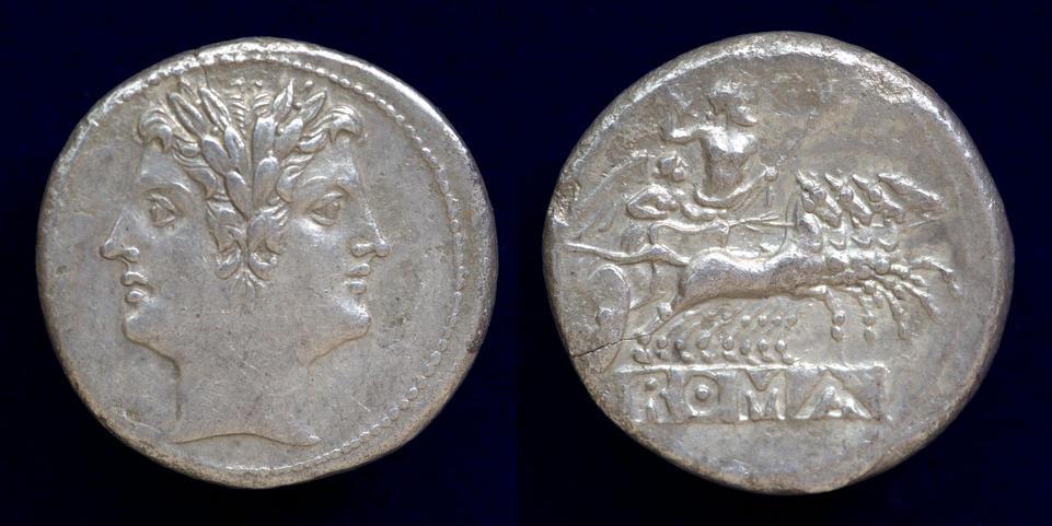 Anonymous, Quadrigatus, 225-214 BC, C. 28/3