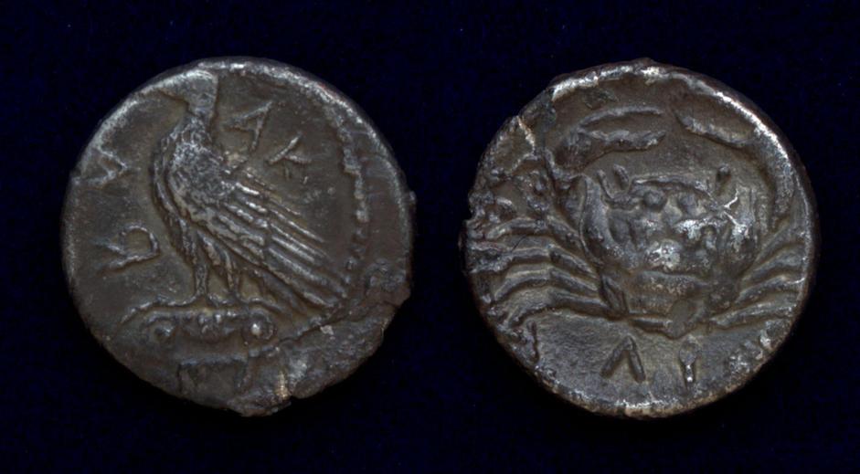 Sicily, Akragas (Agrigentum), circa 450-440 BC, AR litra