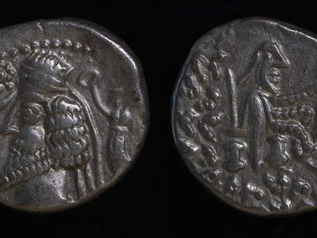 Parthians: King Phraates IV and Son