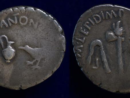 A Denarius of Mark Antony & Lepidus
