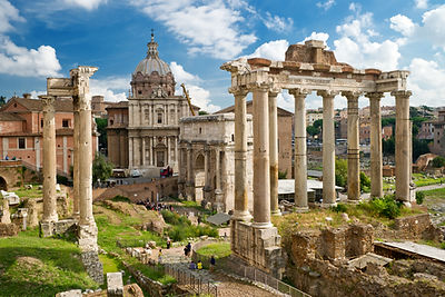 Roman Forum in Rome, Italy, It is one of