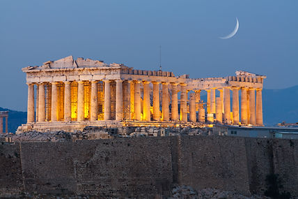 Parthenon temple in Acropolis Hill in At