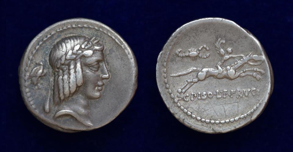 C. Calpurnius L.f. Frugi, 61 BC, Cr. 408/1b