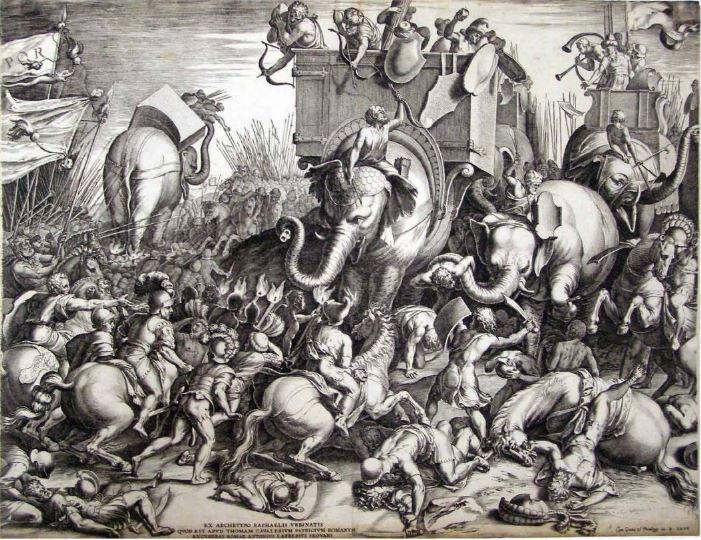 Battle of Zama between Carthage and Rome 1567 Cornelis Cort